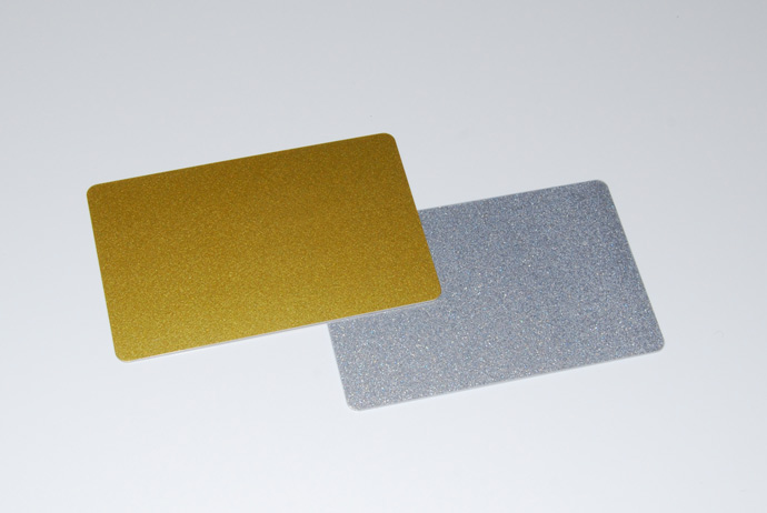 Metallic Silver and Metallic Gold Plastic cards available