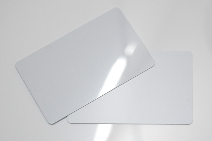 gloss white plastic business cards