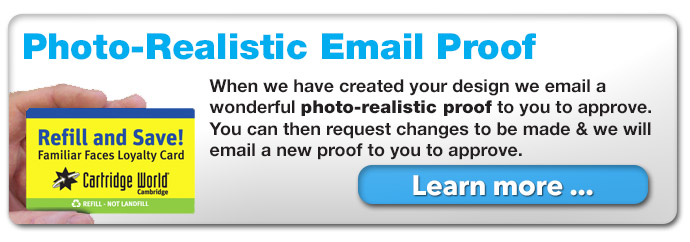 we will email a photo-realistic proof for approval