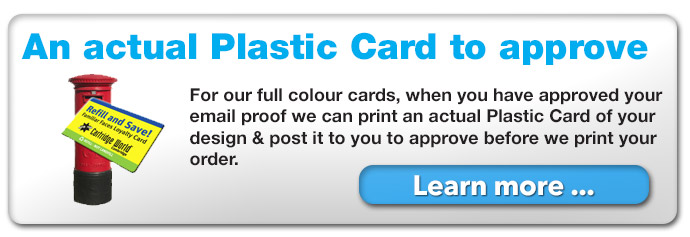 an actual plastic card can be printed and posted to you for approval