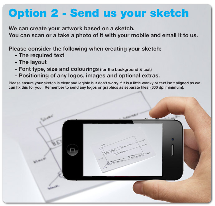 send us your sketch