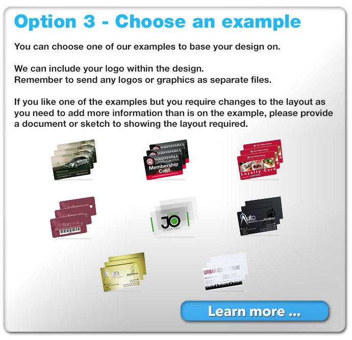 choose from one of our examples