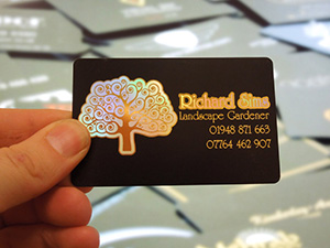 black business card for landscape gardener