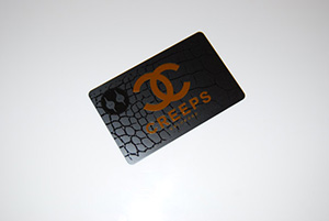 black plastic card subtle watermark
