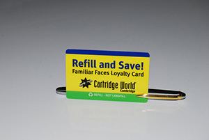 cartridge world plastic card