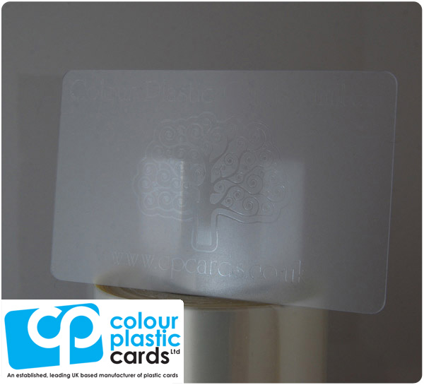 clear frosted plastic business cards printed with clear ink