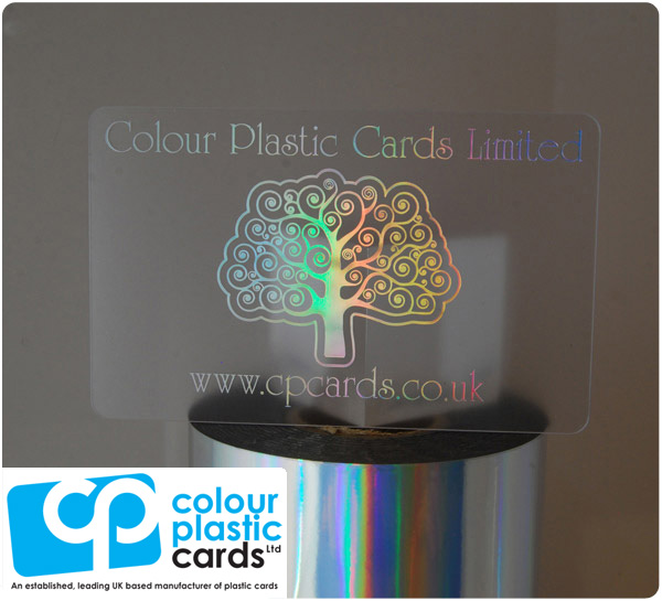 clear frosted plastic business cards printed with holoprint ink