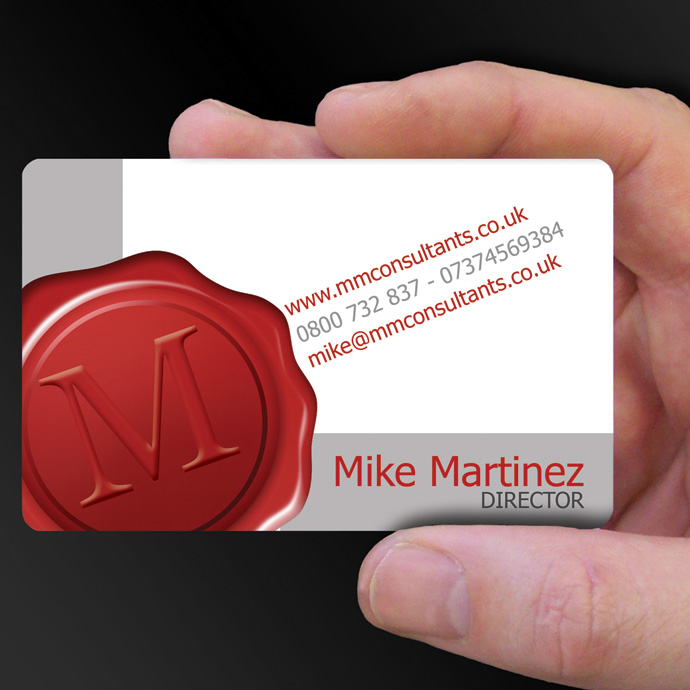 full colour plastic business cards