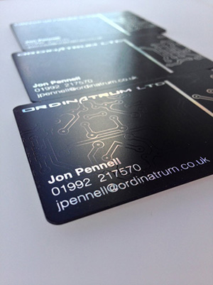 black plastic card with watermark