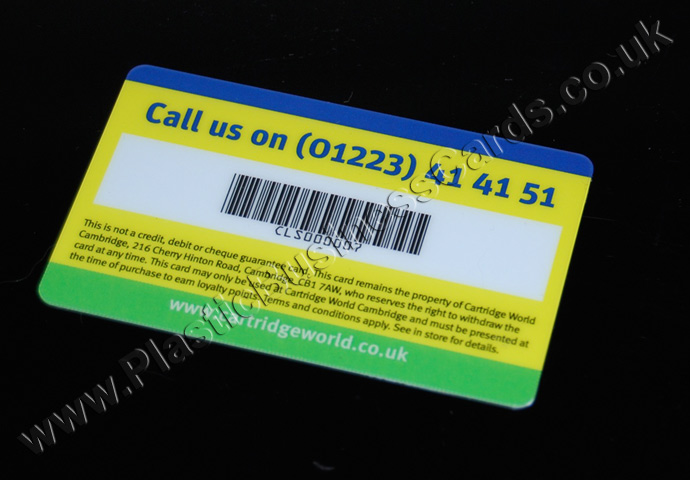 plastic cards with barcodes