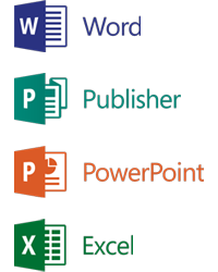 Send your Word, Publisher, Powerpoint or Excel document