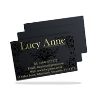 black plastic business card example