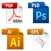 pdf, eps, photoshop and illustrator templates