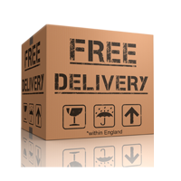 free delivery within england on all plastic card orders