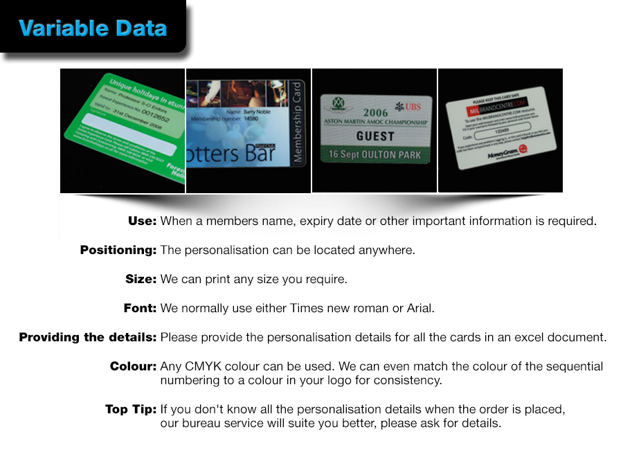 personalisation or variable data