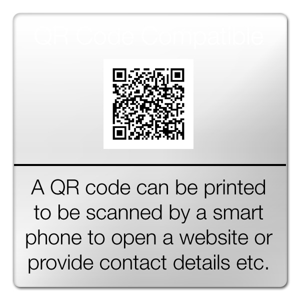 qr code printing available
