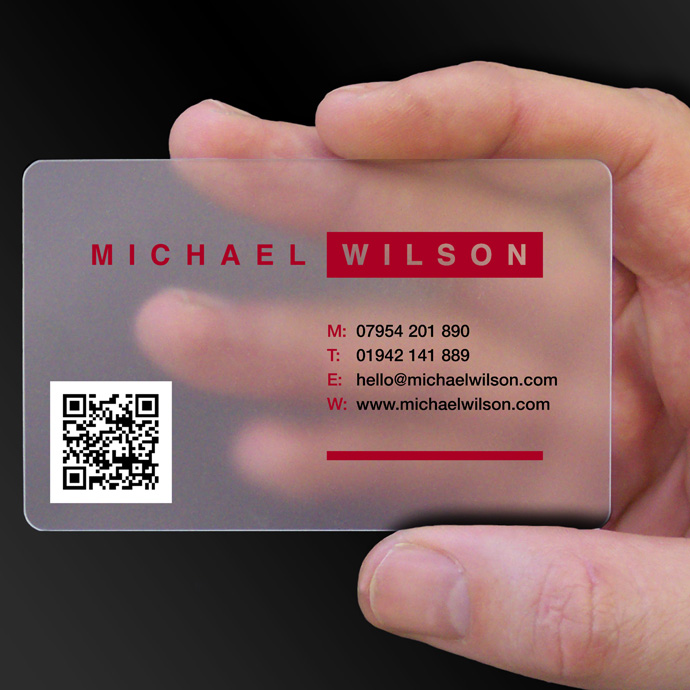 Transparent Business Cards Clear Business Cards CPcards