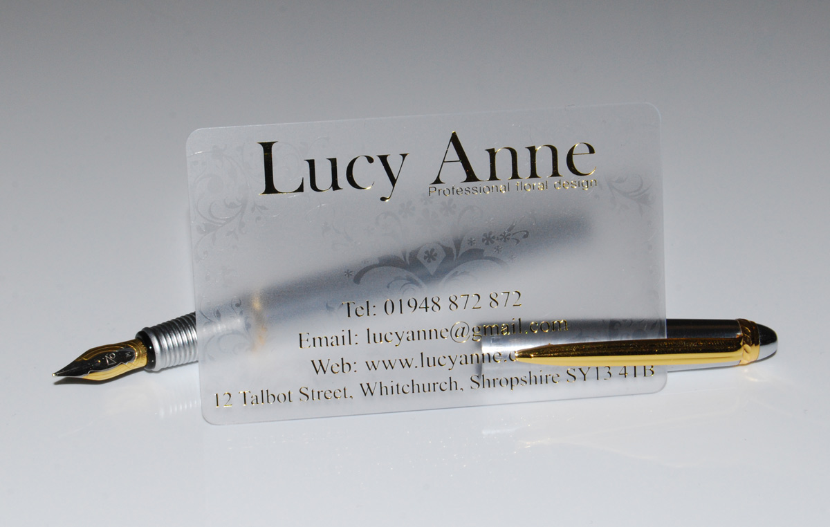 Comfortable Clear Frosted Business Cards Ideas - Business Card ...
