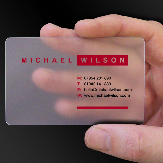 Clear business card examples cpcards for Example of a business card