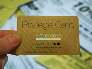 metallic gold business card with metallic foiling