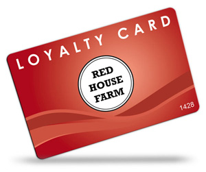 Red House Farm Shop Loyalty Cards