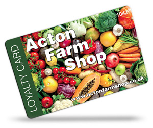 Acton Farm Shop Loyalty Cards