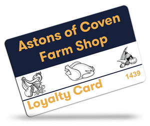 Acton of Coven Farm Shop Loyalty Cards