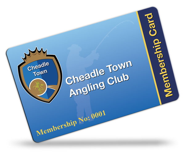 angling club membership card examples