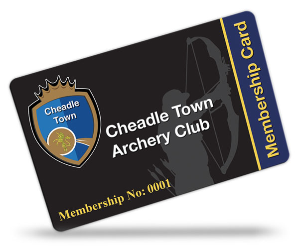 Cheadle Town Archery Club Membership Cards