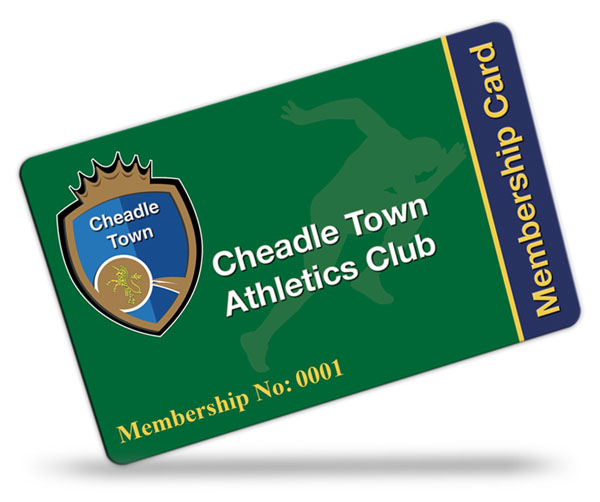 Cheadle Town Athletics Club Membership Cards