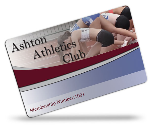 athletics club membership card examples