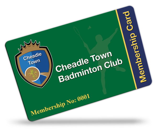 Cheadle Town Badminton Club Membership Cards