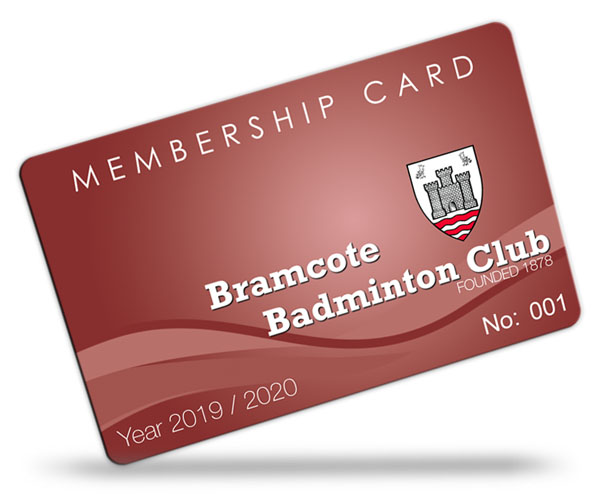 badminton club membership card examples