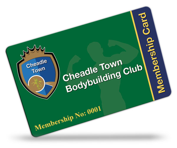 Cheadle Town Body Building Club Membership Cards