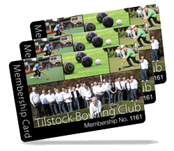 bowling club membership card examples