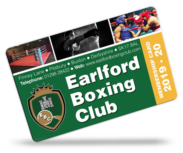 boxing club membership card examples