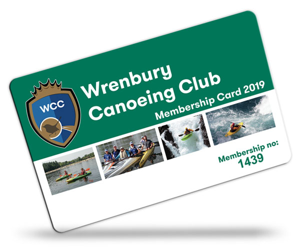 canoeing club membership card examples