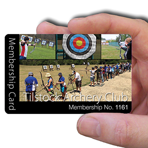 membership cards for Archery Club