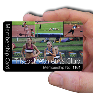 membership cards for Athletics Club