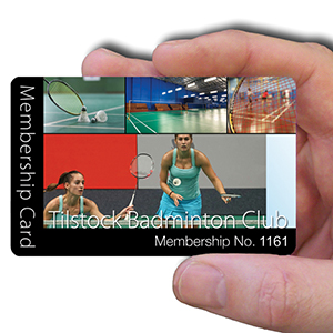 membership cards for Badminton Club