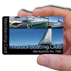 membership cards for boating club