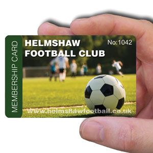 membership cards for Football Club