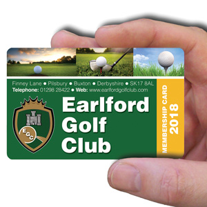 membership cards for golf club