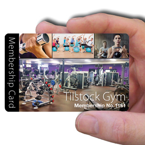 membership cards for gym clubs or leisure clubs
