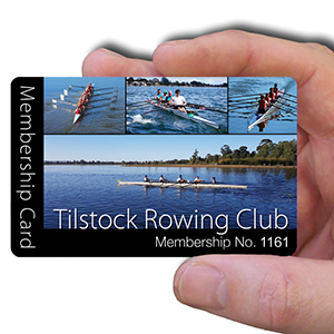 membership cards for rowing club