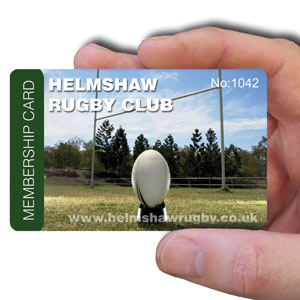 membership cards for rugby club