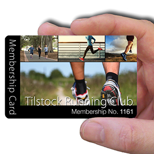 membership cards for running club
