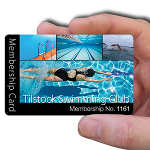 membership cards for swimming clubs