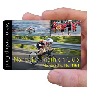 membership cards for triathlon club