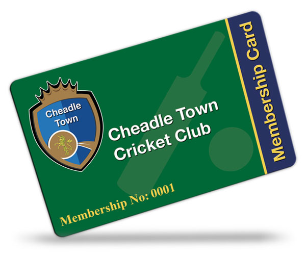 Cheadle Town Cricket Club Membership Cards